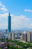 Cityscape of Taipei Stock Images