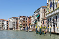 Cityscape taken from the Grand canal Stock Image