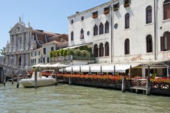 Cityscape taken from the Grand canal Stock Photo