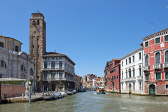 Cityscape taken from the Grand canal Royalty Free Stock Photos