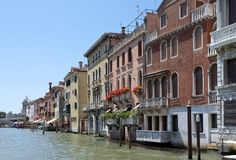 Cityscape taken from the Grand canal Stock Photography