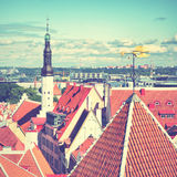 Cityscape of Tallin Stock Photography