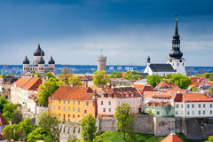Cityscape of Tallinn. Estonia Stock Photos
