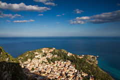 Cityscape of Taormina Royalty Free Stock Photography
