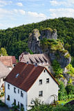 Cityscape of Tüchersfeld in franconia switzerland Stock Photo