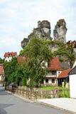 Cityscape of Tüchersfeld in franconia switzerland Royalty Free Stock Image