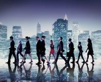 Cityscape Team Concept för pendlare för affärsfolk Royaltyfria Bilder