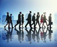 Cityscape Team Concept för pendlare för affärsfolk Fotografering för Bildbyråer