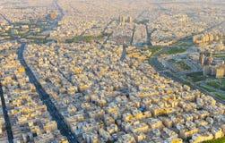 Cityscape of Tehran aerial Iran stock photos