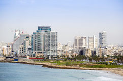 Cityscape of Tel-aviv, Israel. Royalty Free Stock Photography