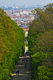 Cityscape telephoto view of Vienna from Gloriette at Schoenbrunn palace Royalty Free Stock Photo