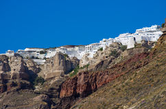 Cityscape of Thira in Santorini island, Greece Royalty Free Stock Photo