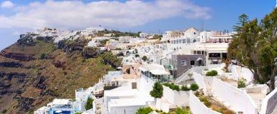 Cityscape of Thira in Santorini island, Greece Royalty Free Stock Photography