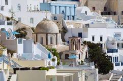 Cityscape of Thira in Santorini island, Greece Stock Photo