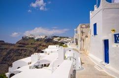 Cityscape of Thira in Santorini island, Greece Stock Photography