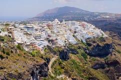 Cityscape of Thira in Santorini island, Greece Stock Images