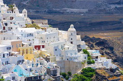 Cityscape of Thira in Santorini island, Greece. Cityscape of Thira in Santorini island - Greece Stock Photography