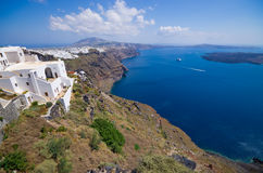 Cityscape of Thira in Santorini island, Greece Royalty Free Stock Photo