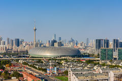 Cityscape of  Tianjin city China in daytime with clear blue sky Royalty Free Stock Image