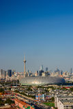 Cityscape of  Tianjin city China in daytime with clear blue sky Stock Image