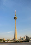 Cityscape of   Tianjin TV tower (Tianta tower). Royalty Free Stock Photo