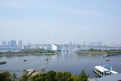 The cityscape of Tokyo harbor Stock Photo