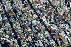 Cityscape of Tokyo in Japan from skytree Stock Photography