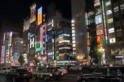 Cityscape Tokyo Japan van de Shinjukunacht stock afbeelding