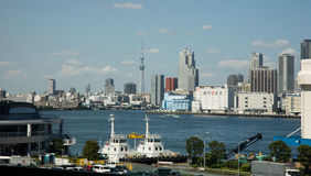 Cityscape Tokyo skyline stock photo