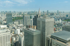 Cityscape of Tokyo skyscrapers in shinjuku financial district Stock Photos
