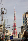 Cityscape with Tokyo Tower Royalty Free Stock Images