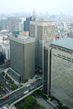 Cityscape of Tokyo, the view from free observator of Tokyo Metro Royalty Free Stock Photo