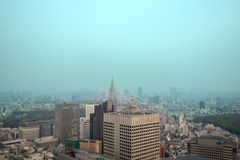 Cityscape of Tokyo, the view from free observator of Tokyo Metro Royalty Free Stock Image