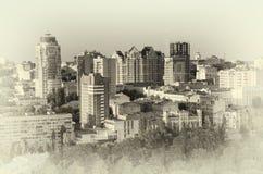 cityscape Tonificação retro Fotografia de Stock