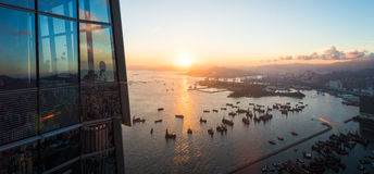 Cityscape from top view of sky100 building Royalty Free Stock Photography