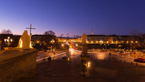 Cityscape of Torino (Turin, Italy) at dusk, blurred motion Royalty Free Stock Photo