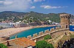 Cityscape of Tossa de Mar. Royalty Free Stock Photos