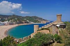 Cityscape of Tossa de Mar. Stock Images