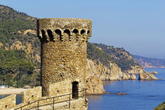 Cityscape of Tossa de Mar, Costa Brava, Spain. Royalty Free Stock Photos