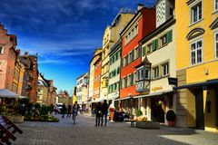 Cityscape of the town of Lindau Schwarzwald germany Stock Photography