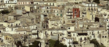 The cityscape of the town of Ragusa Ibla Stock Photography