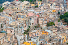The cityscape of the town of Ragusa Ibla in Sicily in Italy Royalty Free Stock Image