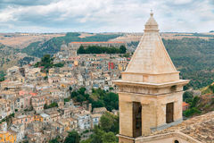 The cityscape of the town of Ragusa Ibla in Sicily in Italy Royalty Free Stock Photography