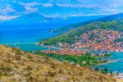 Cityscape of town Trogir, Croatia. stock image