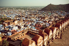 Cityscape with traditional indian houses in India Royalty Free Stock Photo