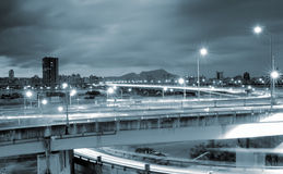 Cityscape of traffic Stock Photography