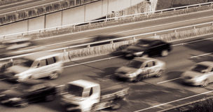 Cityscape of traffic Stock Photos