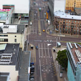 Cityscape with traffic Stock Images