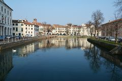 Cityscape in Treviso Royalty Free Stock Photography
