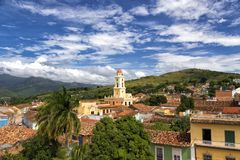 Cityscape of Trinidad in Cuba Royalty Free Stock Images